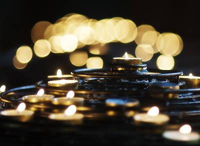 Prayer Candles Print by Beth Riser