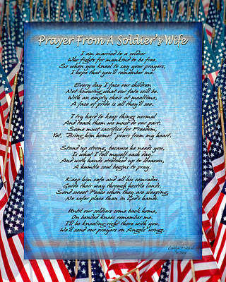 Prayer From A Soldiers Wife Print by Carolyn Marshall