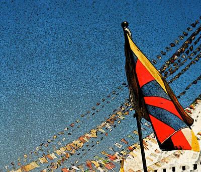 Tibetan Buddhism Mixed Media - Prayers For Tibet by First Star Art