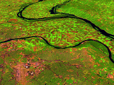 Pre-flood Rivers Print by Nasagoddard Space Flight Center