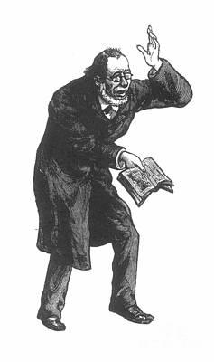 Sermon Photograph - Preacher, 19th Century by Granger