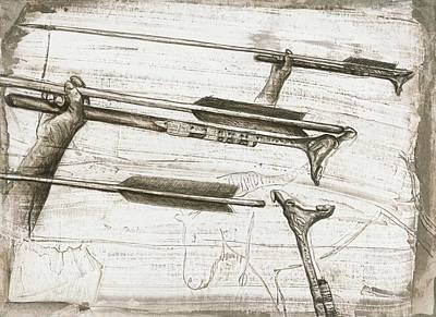 Prehistoric Spear-thrower Print by Kennis And Kennismsf