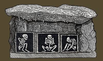 Prehistoric Tomb, Sweden Print by Sheila Terry