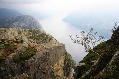 Preikestolen And Lysefjord, Rogaland, Norway Print by Anjci (c) All Rights Reserved