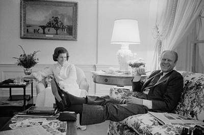President And Betty Ford In The Living Print by Everett