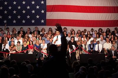 President Barack Obama Answers Print by Everett