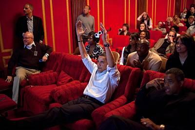 President Barack Obama Celebrates Print by Everett
