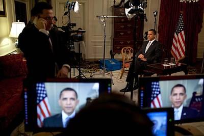 President Barack Obama Conducting Print by Everett