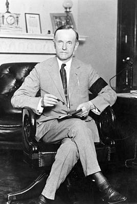 Whitehouse Photograph - President Calvin Coolidge by International  Images