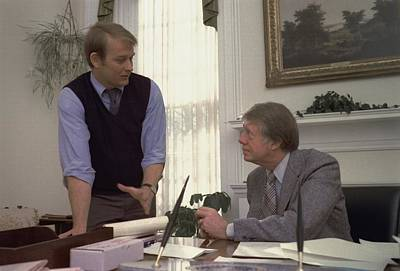 President Carter And His Press Print by Everett