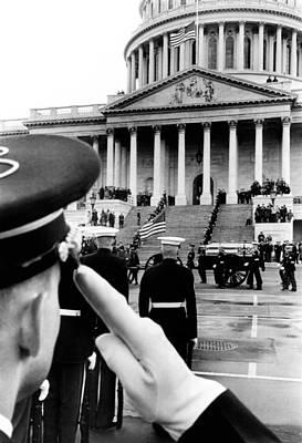 President Eisenhowers Funeral. An Honor Print by Everett