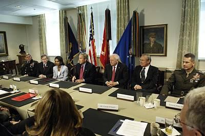 President George W. Bush And Members Print by Everett