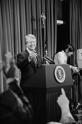 President Jimmy Carter Taking Print by Everett