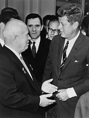 Nikita Photograph - President John F. Kennedy Meets Nikita by Everett
