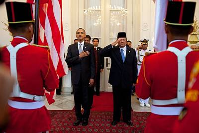 President Obama And Indonesias Print by Everett