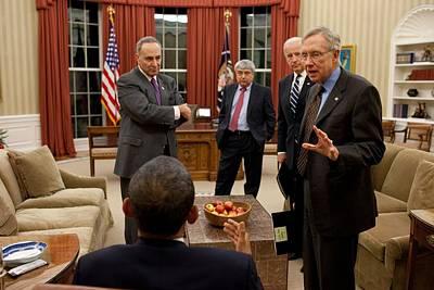 Bswh052011 Photograph - President Obama And Vp Joe Biden Meet by Everett