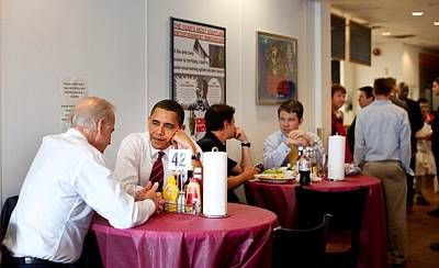 Vice President Biden Photograph - President Obama And Vp Joe Biden Wait by Everett
