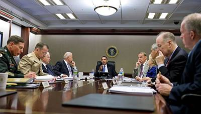 President Obama Meets With His National Print by Everett