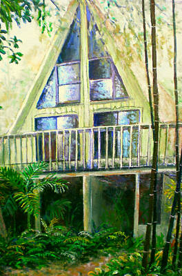 Bamboo House Painting - Presley House by Lou Ann Bagnall