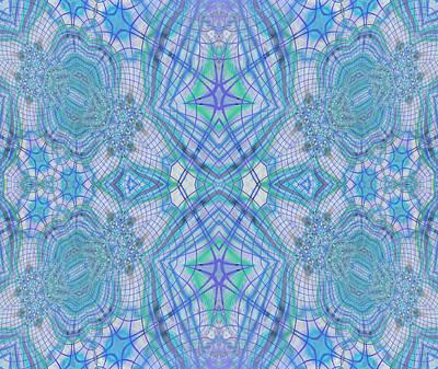 Large Mixed Media - Pretty Blue by Georgiana Romanovna
