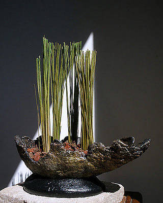 Hypertufa Ceramic Art - Primitive Pottery Planter Sculpture Sold by Randy Stewart