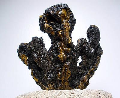 Hypertufa Sculpture - Primitive Pottery Sculpture Urbanearthcreations.com - Sold by Randy Stewart