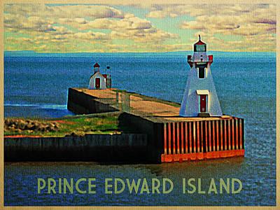 Pier Digital Art - Prince Edward Island Lighthouse by Flo Karp