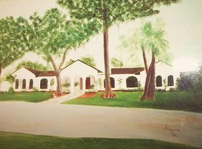 Prince Faisal's Home In Fl Print by Alanna Hug-McAnnally