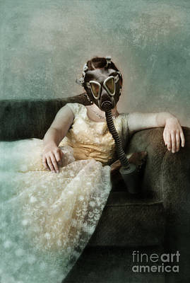 Princess In Gas Mask 2 Print by Jill Battaglia