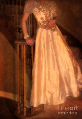 Princess On Stairway Print by Jill Battaglia