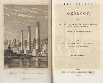 Charles Lyell Photograph - Principles Of Geology (1830) by King's College London