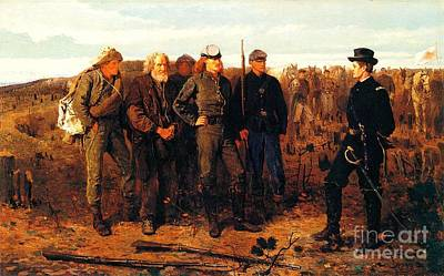 Prisoners From The Front Print by Pg Reproductions