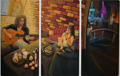 Bread And Cheese Painting - Private Room  by Martha Bennett