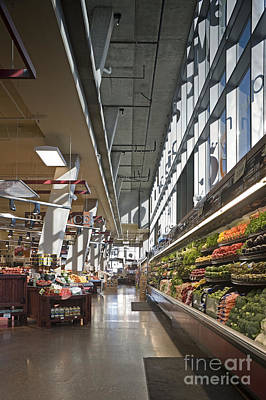 Produce Section On A Supermarket Print by Robert Pisano