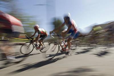Bike Races Photograph - Professional Bike Riders by Rich Reid