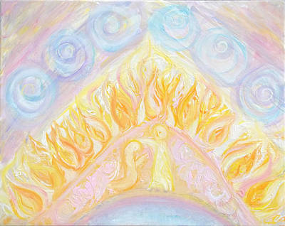 Angels Painting - Prophetic Message Sketch 23 Preparing A Leadership by Anne Cameron Cutri