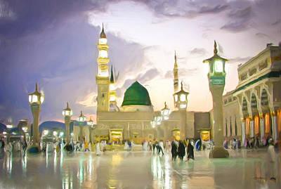 Arabia Photograph - Prophet's Mosque by Tom Gowanlock