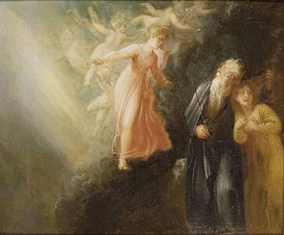 Prospero - Miranda And Ariel  Print by Thomas Stothard