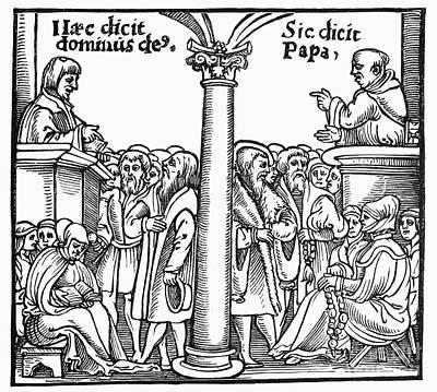 Sermon Photograph - Protestant Versus Catholic by Granger
