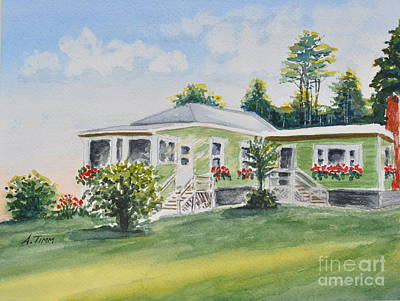 Prout's Neck Cottage Print by Andrea Timm