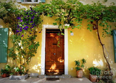 Provence Door Number 1 Print by Lainie Wrightson