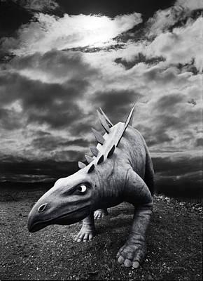 Surreal Photograph - Prowling Stegosaurus by Andy Frasheski