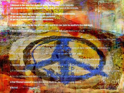 Yesayah Mixed Media - Psalm 1 by Fania Simon