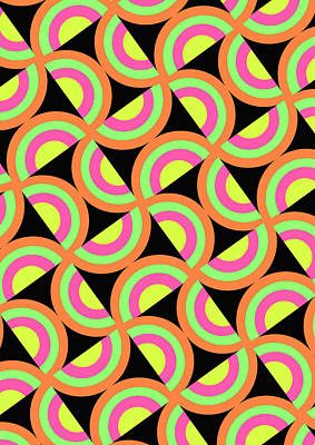 Loud Digital Art - Psychedelic Squares by Louisa Knight