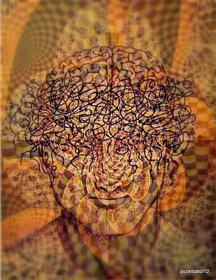 Biochemical Digital Art - Psycho Traumatic Hypnotic by Paulo Zerbato