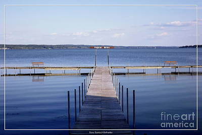 Special Effects Photograph - Public Dock On Chautauqua Lake by Rose Santuci-Sofranko