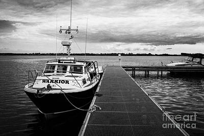 Public Jetty And Island Warrior Ferry On Rams Island In Lough Neagh Northern Ireland Uk Print by Joe Fox