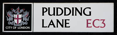 Pudding Lane Print by Dawn OConnor
