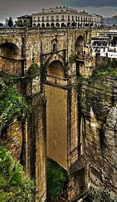 Architektur Photograph - Puente Nuevo - Parador De Ronda by Juergen Weiss