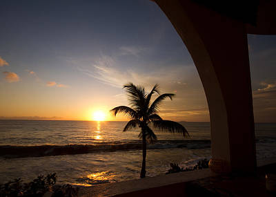 Puerto Rican Sunset I Print by Tim Fitzwater